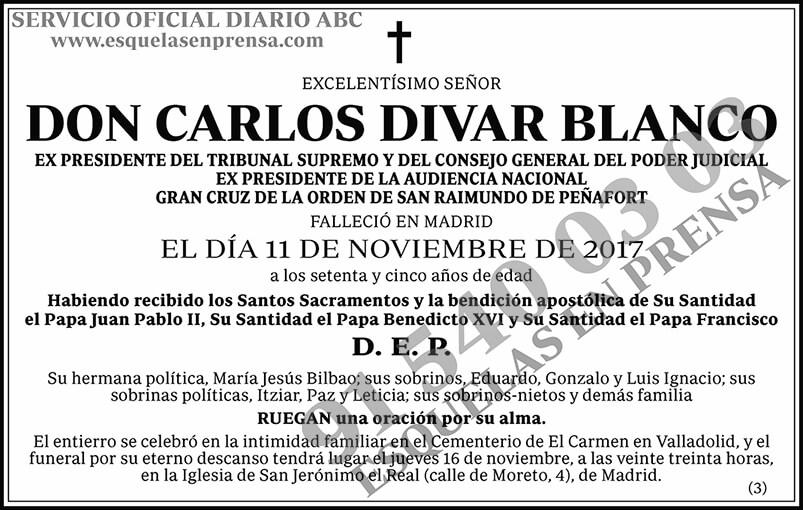 Carlos Divar Blanco